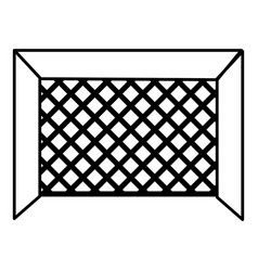 hockey gate icon outline style vector image