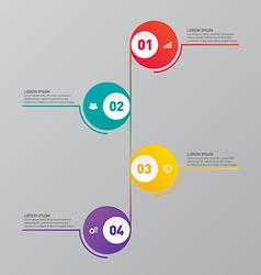 Infographic report template design element vector image vector image
