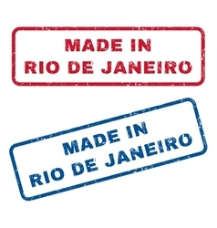 Made in rio de janeiro rubber stamps vector