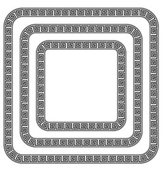 Square ornament meander vector