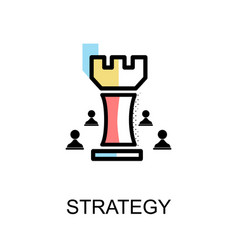 strategy chess graphic icon vector image
