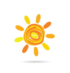 sun cartoon color vector image vector image