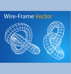 technology concept torus vector image vector image