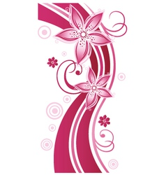 tendril floral elements vector image vector image