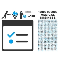 Todo items calendar page icon with 1000 medical vector