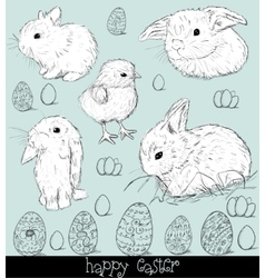 Vintage poster about Easter vector image vector image