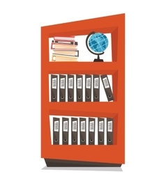 Office shelves with folders vector