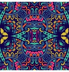 Abstract colorful ethnic tribal pattern vector image