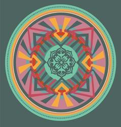 Green floral mandala vector image