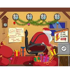 santa gifts for prints 3D printer vector image