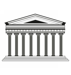 Roman greek pantheon temple vector