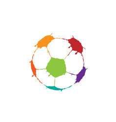 art soccer ball vector image
