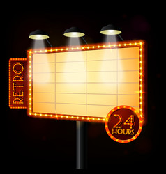 Blank illuminated billboard poster vector