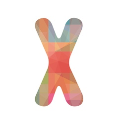 Colorful alphabet x vector