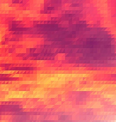 Sundown themed background with triangular grid vector