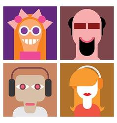 four avatars vector image
