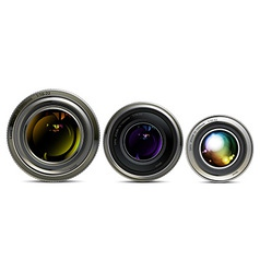 set of lens vector image