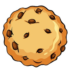 Crunchy brown cookie vector