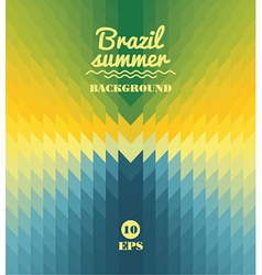 Geometric background in brazil flag concept vector