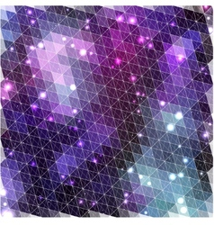 Lilac glowing pattern of triangle shapes vector