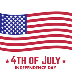 4th of july independence day in usa vector image