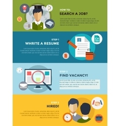 Job search after university infographic students vector