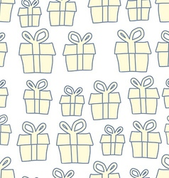 Holiday background of gifts present seamless vector
