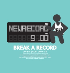 The athlete with break a record banner vector