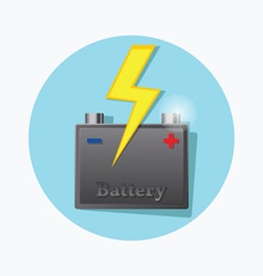 Storage battery fat icon vector