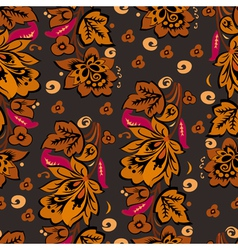 Seamless autumn floral background vector