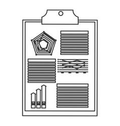 Diagram and clipboard icon vector