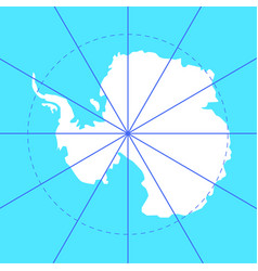 Antarctic south pole map antarctica land vector