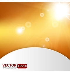Autumn abstract background with sunburst flare vector image