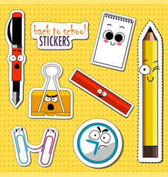 back to school stickers vector image
