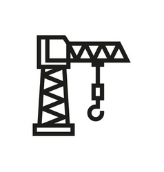 building crane icon on white background vector image