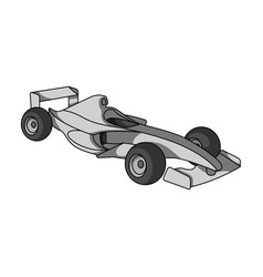 Car racingextreme sport single icon in monochrome vector