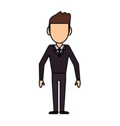 Cartoon man male stand design vector