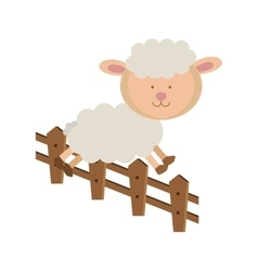 Cartoon sheep icon vector