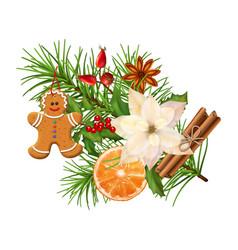 christmas festive decoration vector image vector image