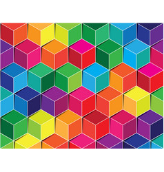 Colorful polygon background vector