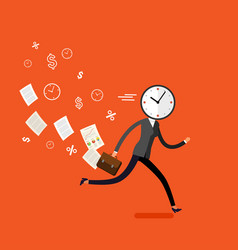 Concept of effective time management vector