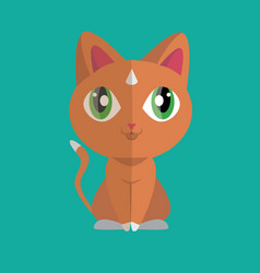 cute cat flat styling vector image vector image