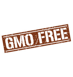 Gmo free square grunge stamp vector