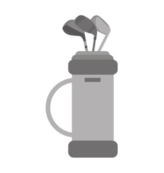 Golf clubs bag equipment icon vector
