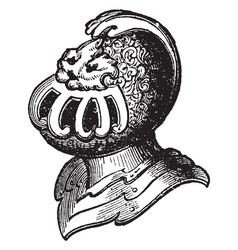 Helm of the princes and nobles is a heraldic vector