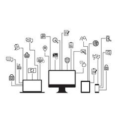 Internet website icons vector