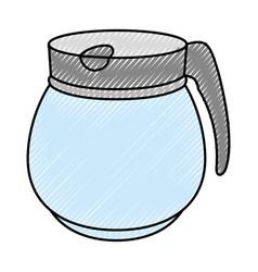 Kettle kitchenware utensil ilustration vector