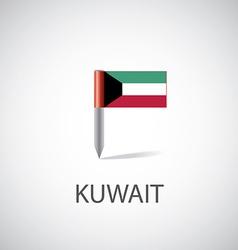Kuwait flag pin vector