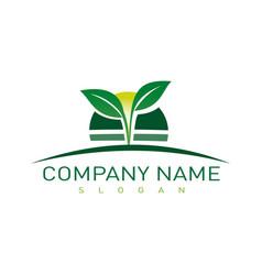 Landscaping company symbol vector