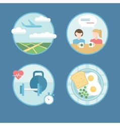 Modern icons set in flat style vector image vector image